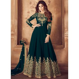 Designer Dark Green  Party Wear Salwar Suit