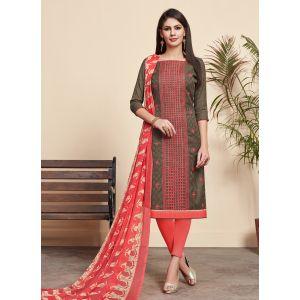 Refreshing Breown color Salwar Kameez