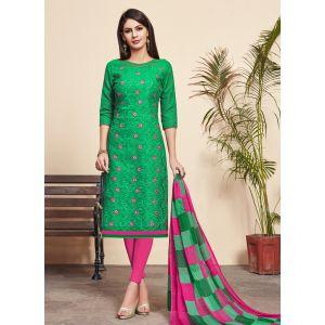 Sophisticated Green color Salwar Suit