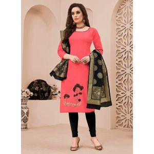 Opulent Pink Embroidery Salwar Kameez