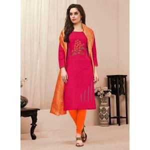 Flattering Dark Pink color Salwar Kameez