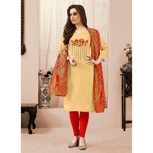 Embroidery Light Yellow Salwar Kameez