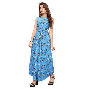 Beautiful Sky Blue Printed Gown