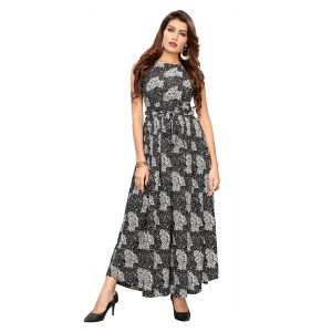 Magnificient Black Printed Gown