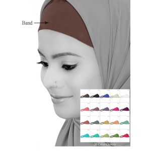 Crepe Headband-Under Hijab Band