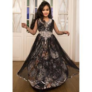 Multi Color Gown Partywear Style Kaftan