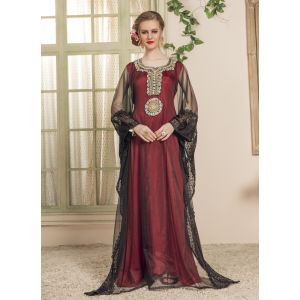 Women Black and Red color Free Size Kaftan