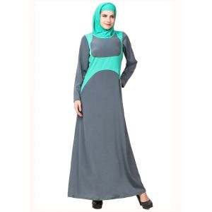 Womens Abaya Green Color Muskan