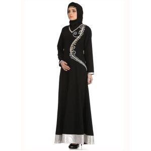 Womens Abaya Black Color Fancy