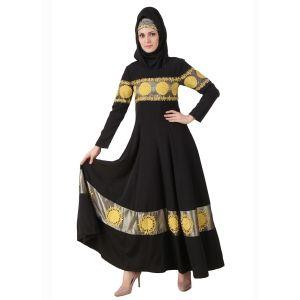 Womens Abaya Black Color Flamboyant
