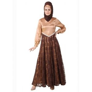 Womens Abaya Brown Color Casual wear