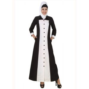 Womens Abaya White Color Formal