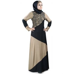 Womens Abaya Brown Color Modest Maxi