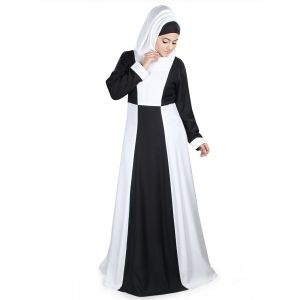 Womens Abaya White Color Beautiful