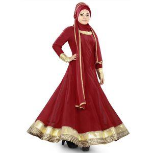 Womens Abaya Maroon Color Formal