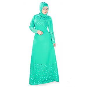 Womens Abaya Green Color Beautiful