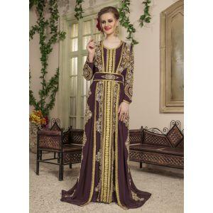 Woman Brown Color Morrocon Style Kaftan - Final Sale