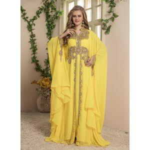 Women Yellow color Free Size kaftan