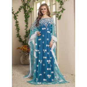 Women Blue color Free Size Kaftan