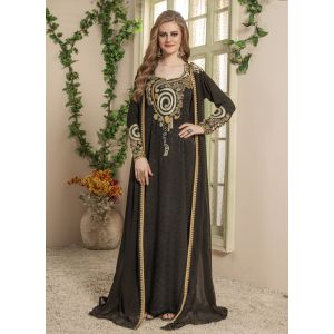 Women Black color Arabic Style Caftan