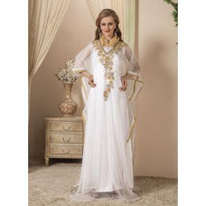 Women White color Free Size Kaftan