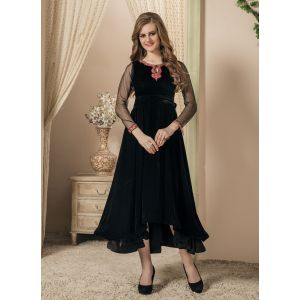 Women Black color Gown Style Dress