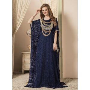 Women Dark Blue color Free Size Kaftan