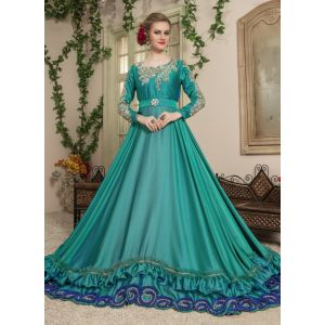 Women Green color Dress Style Caftan