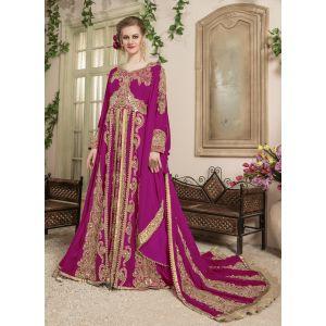 Women Pink color Wedding Kaftan