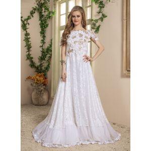 Women White color Maxi Dress Caftan