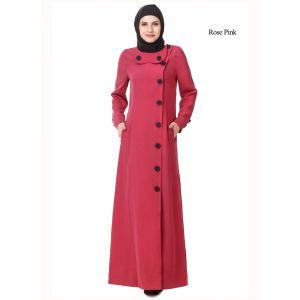 Womens Abaya Pink Color Flamboyant