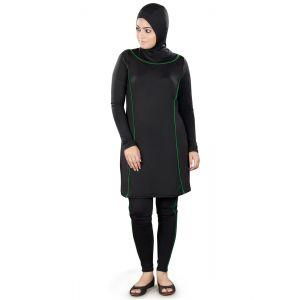 Black color Womens-Poly Knit Womens Burkini