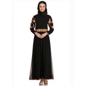 Womens Abaya Black Color Modest Maxi