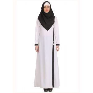 Womens Abaya White Color Muskan