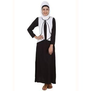 Womens Abaya White Color Flamboyant