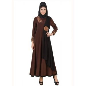 Womens Abaya Brown Color Marvelous