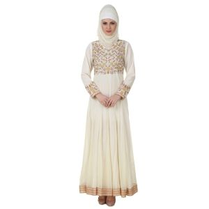 Womens Abaya Off White Color Party Wear