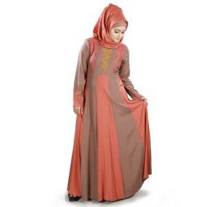 Womens Abaya Brown Color Muskan
