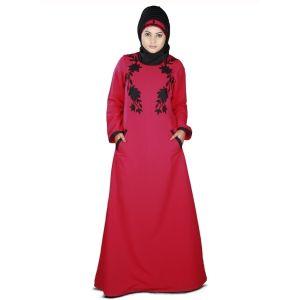 Womens Abaya Pink Color Formal