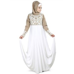 Womens Abaya Brown Color Modest Dress