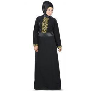 Womens Abaya Black Color Rubiya