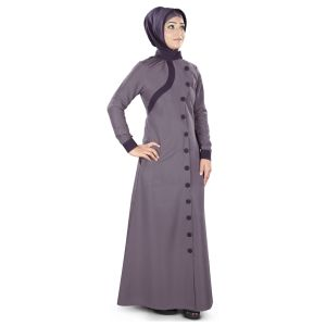Womens Abaya Purple Color Flamboyant