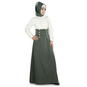 Womens Abaya White Color Fancy