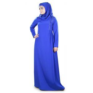 Womens Abaya Blue Color Modest