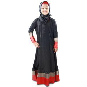 Black color Kid's-Crepe Kid's Abaya