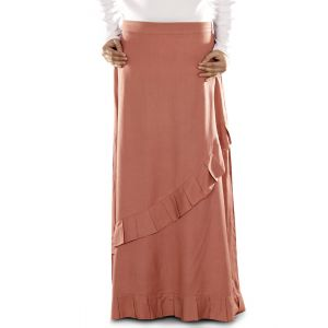 Red color Skirt-Rayon Skirt