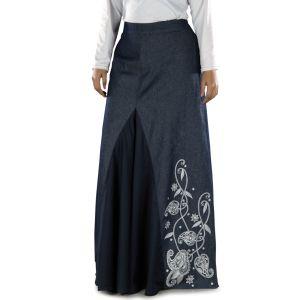 Blue color Skirt-Denim Skirt
