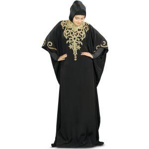 Classy Nayyab Hand Embroidered Black Kaftan
