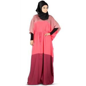 Flamboyant Maida Pink & Maroon Kaftan