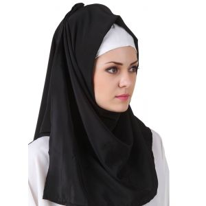Black color Designer-Kashibo Hijab